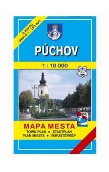 VKÚ Púchov Mapa mesta Town plan Stadtplan Plan miasta cena od 42 Kč
