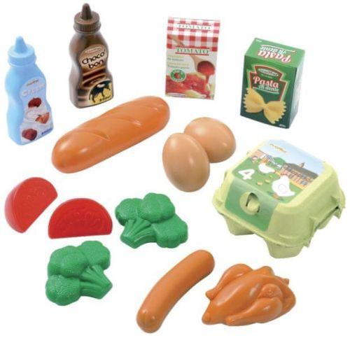 ECOIFFIER Plastové hračky potraviny v síťce