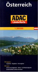 Marco Polo Österreich ADAC LänderKarte 1:300 000 cena od 199 Kč