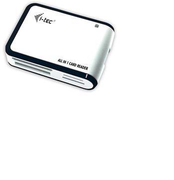 i-tec USB 2.0 univerzální čtečka (bílo/černá)