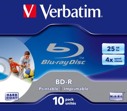 Verbatim BD-R SL 25GB 4x Printable 10ks