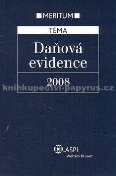 ASPI Daňová evidence 2008 cena od 384 Kč