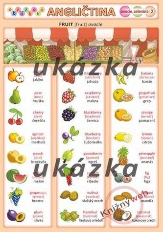 Kupka Obrázková angličtina 2 - ovocie, zelenina cena od 18 Kč