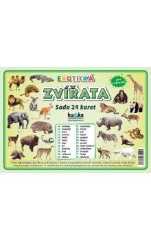 Kupka a Petr: Exotická zvířata - Sada 24 karet cena od 44 Kč