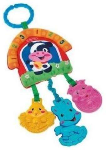 MATTEL Závěsná hračka Mattel - zvířátka z farmy cena od 205 Kč