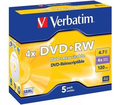 VERBATIM DVD+RW 4,7GB cena od 219 Kč