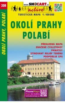 Okolí Prahy, Polabí turistická mapa 1:100 000 cena od 20 Kč