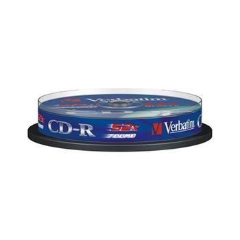 Disk CD-R VERBATIM DL 700MB/80min, 52x, Extra Protection, 10-cake
