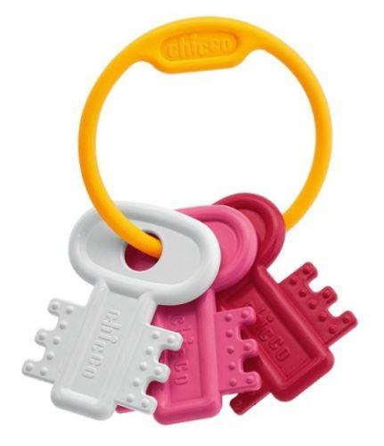 Chicco Kousátko zubaté klíče - růžové cena od 88 Kč