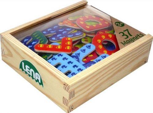 LENA Magnetická písmena, dřevěná cena od 255 Kč