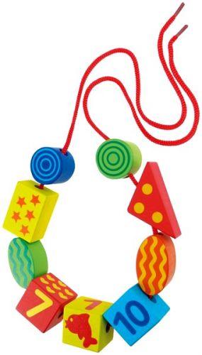 LENA Dřevěné perly, číslice (5 barev) cena od 389 Kč