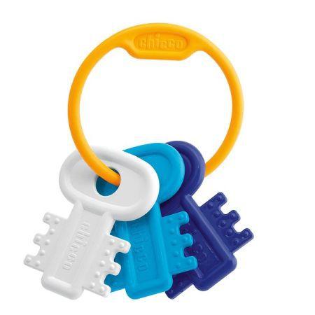 Chicco Kousátko zubaté klíče - modré cena od 110 Kč