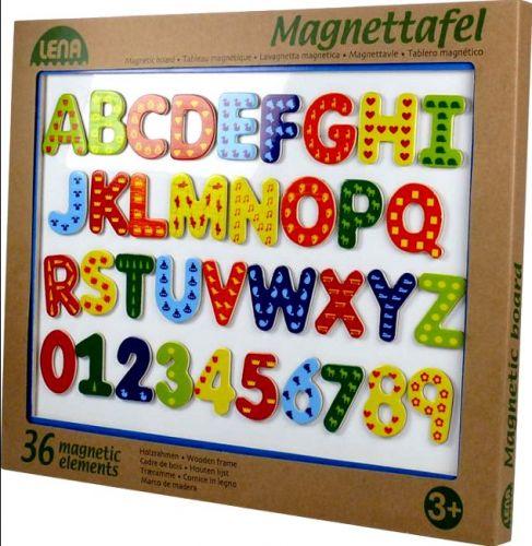 LENA Magnetická tabule dřevěná, písmena a číslice cena od 472 Kč