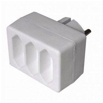 SOLID na 3 zásuvky bílý 3x 230V/2.5A