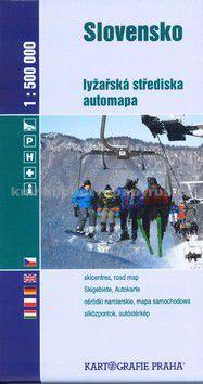 Kartografie PRAHA Slovensko lyžařská střediska 1:500 000 cena od 27 Kč
