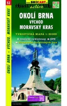 Okolí Brna východ Moravský kras 1:50 000 cena od 76 Kč