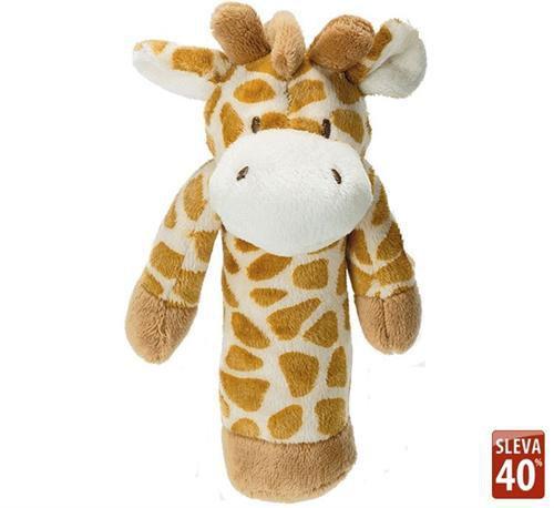 Teddykompaniet Zvířátko do ručičky, Žirafa s chrastítkem cena od 0 Kč