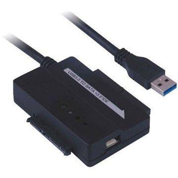 """QCP konvertor - redukce USB 3.0 na IDE 40/44 pinů a SATA, pro 2.5"""" i 3.5"""" zařízení, AC adaptér"""