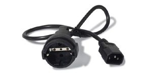 APC Power Cord, 10A, 230V, C14 to Schuko rec