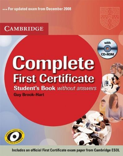 Cambridge university press Complete First Certificate-Students Book with answers -ROM cena od 1000 Kč