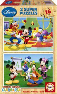 Educa Puzzle Mickey Mouse, 2x16 dílků