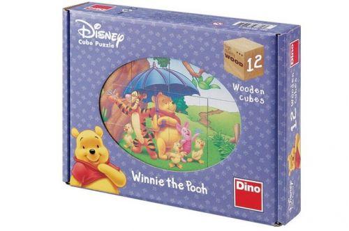 Dino Medvídek Pú-kubus 12 kostek cena od 185 Kč