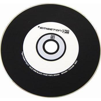 EMGETON CD-R pure vinyl 100% černá