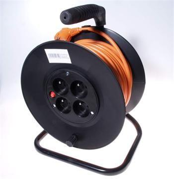 OEM výrobce Kabel 250V/16/5A prodlužovací přívod - buben 25m, 4 zásuvky