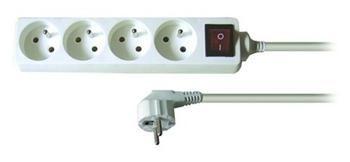 OEM výrobce Kabel 250V/10A prodlužovací přívod 10m, 4 zásuvky, s vypínačem