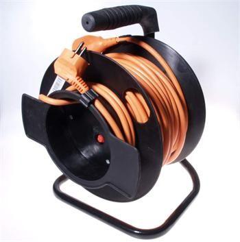 OEM výrobce Kabel 250V/16/5A prodlužovací přívod - buben 25m, 1 zásuvka - 1 zástrčka