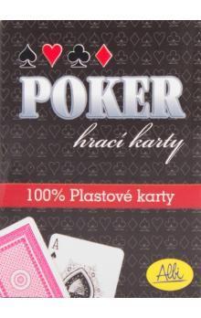 Albi: Poker plastové karty modré