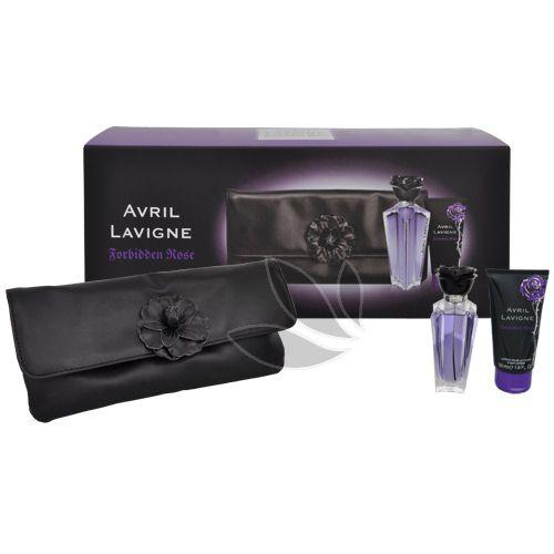 Avril Lavigne Forbidden Rose - parfémová voda s rozprašovačem 30 ml + tělové mléko 50 ml + kosmetická taštička