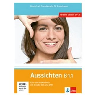 Hosni a L. Ros-El: Aussichten B1.1 Kurs-und Arbeitsbuch + CD + DVD cena od 310 Kč