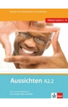 Hosni a L. Ros-El: Aussichten A1.2 Kurs-und Arbeitsbuch + CD + DVD cena od 296 Kč