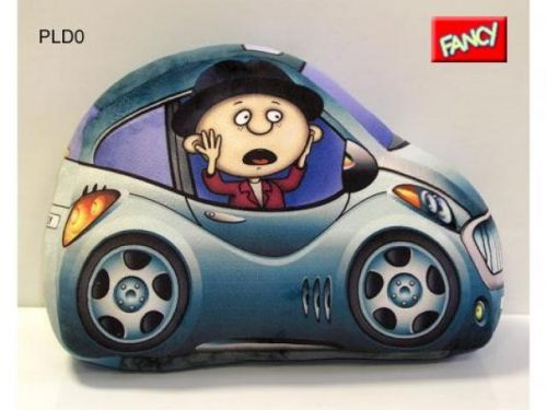 Fancy Polštářek autíčko modré cena od 0 Kč