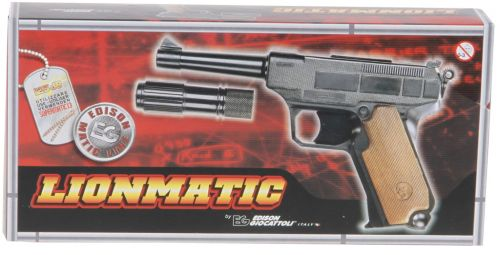 Edison Policejní pistole Lionmatic s tlumičem třináctiran cena od 338 Kč
