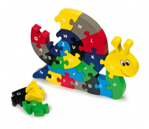 ALEXTOYS Abeceda Puzzle šnek
