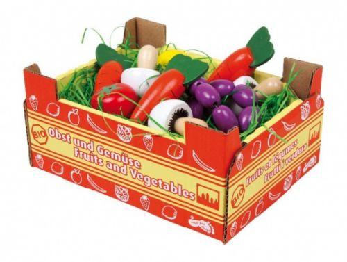 ALEXTOYS Potraviny dřevěné - Zelenina v krabici