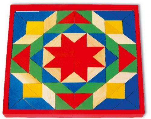 ALEXTOYS Stavebnice dřevěná Mozaika (80ks)