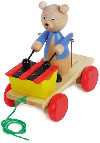 ALEXTOYS Tahací hračka se xylofonem Medvěd cena od 348 Kč