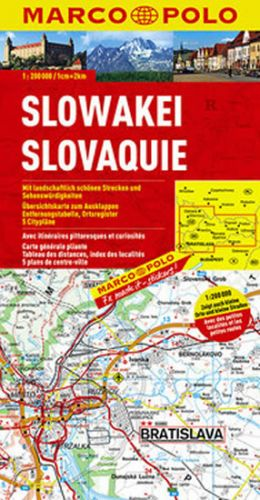 Marco Polo Slovensko 1:200 000 cena od 129 Kč