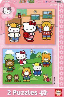 Educa Puzzle Hello Kitty, dva motivy, 48 dílků cena od 169 Kč