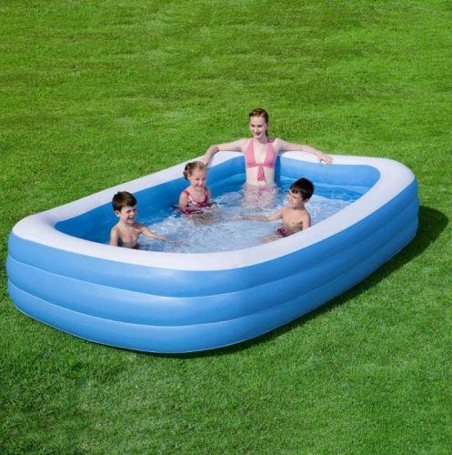 Bestway Obdelníkový rodinný bazén Deluxe