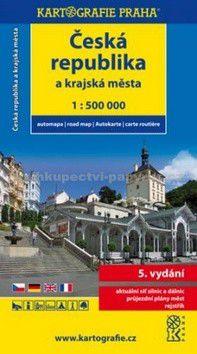 Kartografie PRAHA Česká republika a krajská města cena od 60 Kč