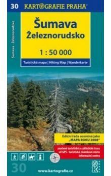 Kartografie PRAHA Šumava Železnorudsko cena od 57 Kč