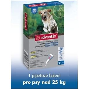 Advantix pro psy spot-on nad 25kg 1x4 ml