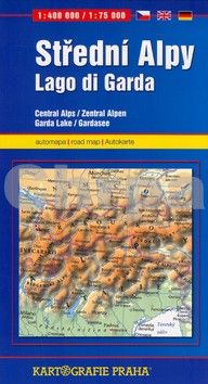 Kartografie PRAHA Střední Alpy Lago di garda cena od 77 Kč