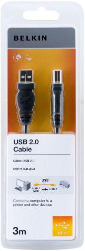 Belkin USB 2.0 kabel A-B, řada standard, 3.0 m