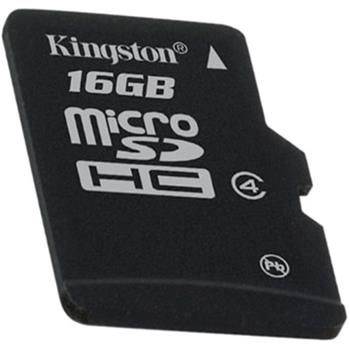 Kingston Micro Secure Digital (class 4) 16GB single pack - SDC4/16GBSP cena od 99 Kč