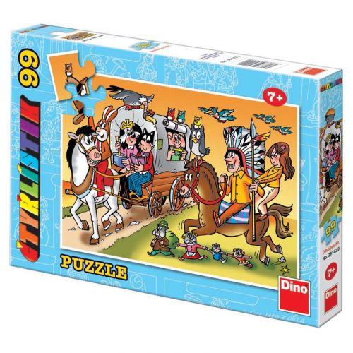 Dino Puzzle Čtyřlístek Dostavník 99 dílků cena od 99 Kč